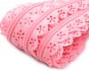020 Zip spirálový krajkový 3mm růžový stín