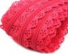 025 Zip spirálový krajkový 3mm růžový fuksiový