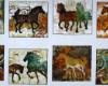 Volný, 110x 60cm, Koně panel