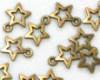 Přívěsek hvězdička 10x13mm, staromosaz