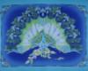 Krásná jako páv, zlatotisk, vel. 110cm x 90cm, Panel