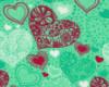 Srdíčka š. 145cm, červeno-zelená