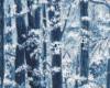 Stříbrotisk Snow festival, stromy, š. 110cm