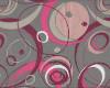 Kočárkovina Sonic, š. 160cm, růžovo-šedý vzor
