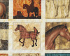 Volný, š. 110cm, Koně bloky