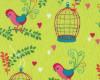Ptáci s klecí na zelené, š. 140cm