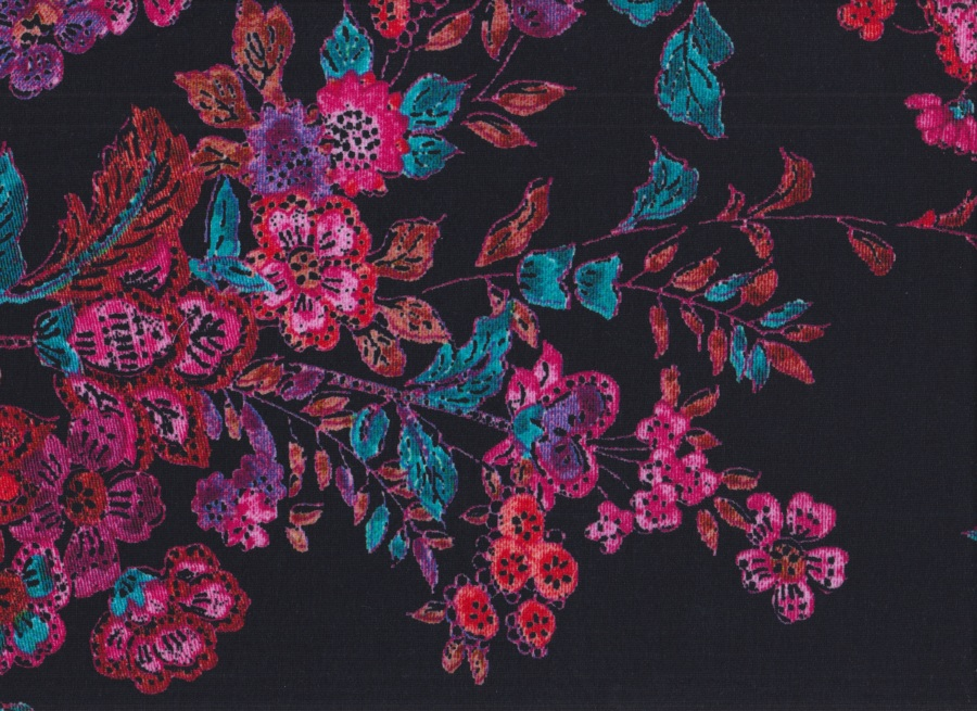 28c161b33611 Úplet Květy na černé